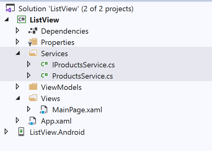 Xamarin Froms Groupped LitView