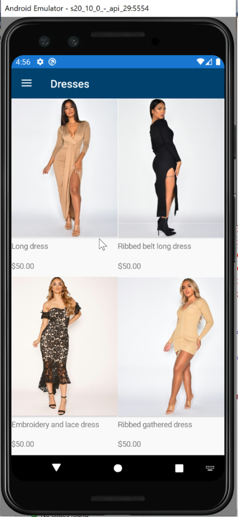 Xamarin Forms - E-commerce App